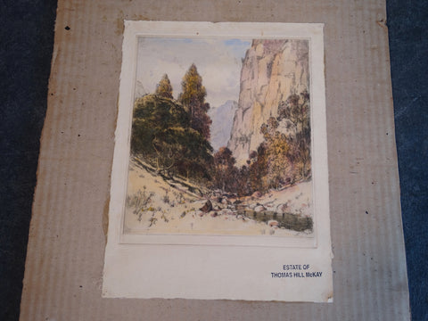 Thomas Hill McKay - Topanga Canyon - Etching 1929 AP1451