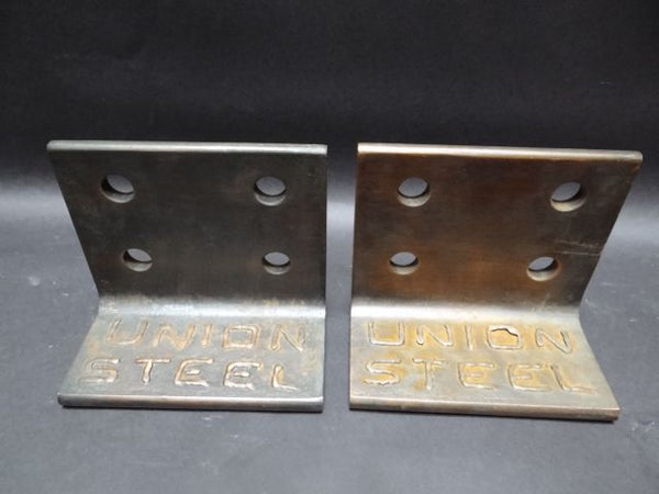 """Union Steel"" Book Ends"