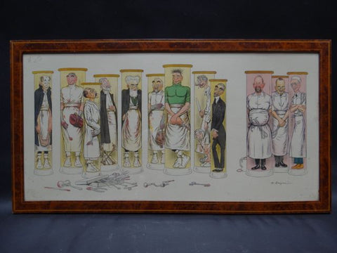 Adrien Barrère 1877-1931 French Medical School Faculty (The Surgeons) Lithograph
