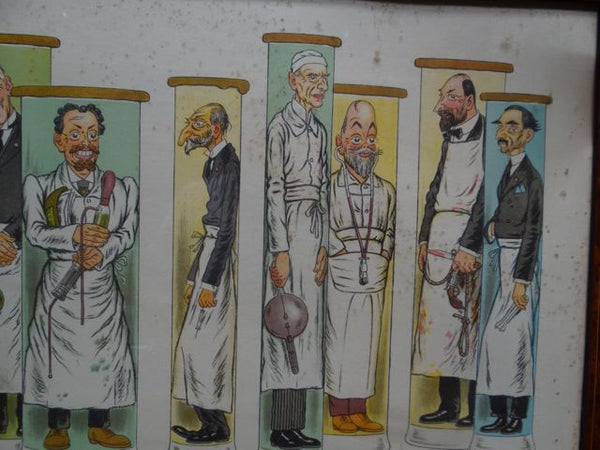 Adrien Barrere 1877-1931 French Medical School Faculty (The Surgeons) Litho