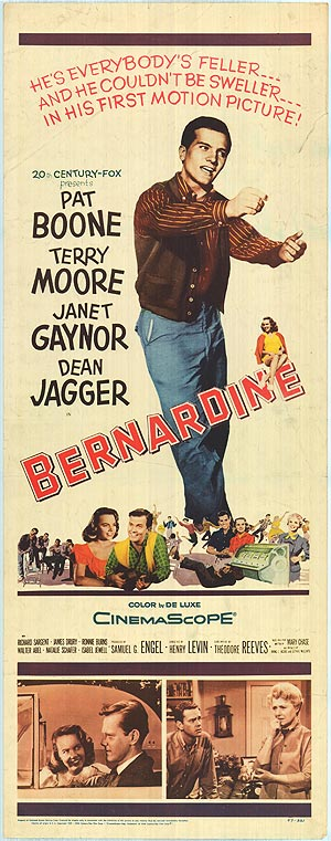 BERNARDINE Pat Boone 1957 Movie Poster