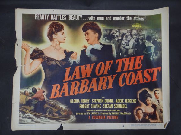 Law Of The Barbary Coast -- 1949 Movie Poster