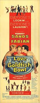 """Love In A Goldfish Bowl"" Tommy Sands, Fabian 1961 Movie Poster"