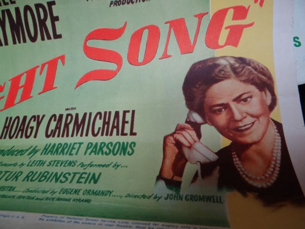 NIGHT SONG Dana Andrews Merle Oberon 1947 Movie Poster