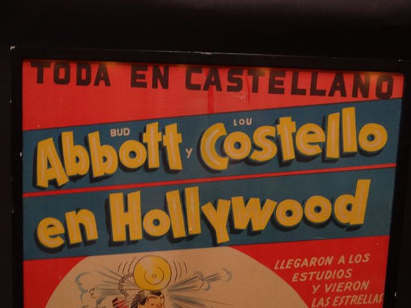 Abbott & Costello in Hollywood – Spanish Movie Poster
