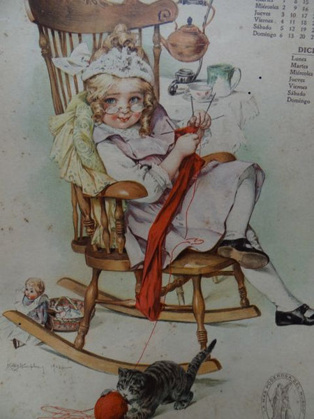 Maud Humphrey: Little Girl Pretending To Be Grandma