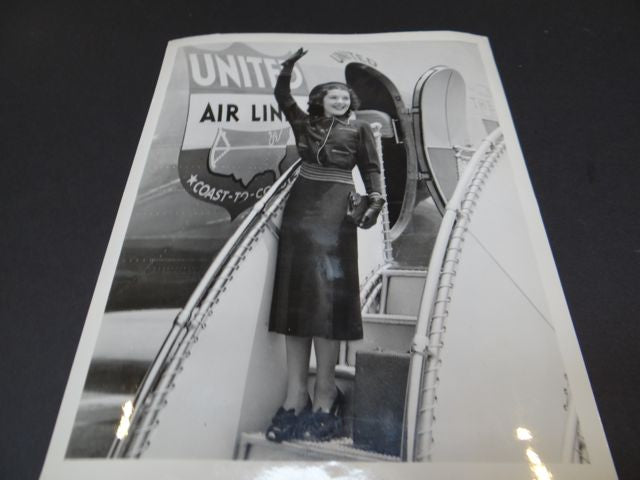 The Ann Rutherford Files: Ann Boarding United Airlines Coast-To-Coast 1940s