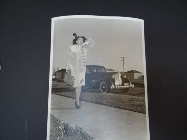 The Ann Rutherford Files: Ann Being Shadowed By A 1937 Packard 12 Cylinder Sedan