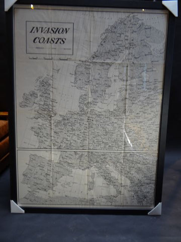 World War II Invasion Coast Map