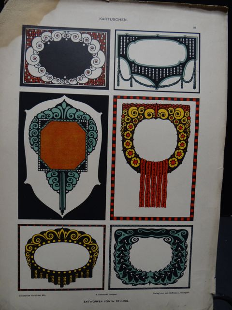 W. Belling Decorative Border Art Lithographic Plates