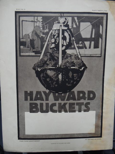 Trade Paper Advertisement by Hartman and Simon for Hayward Buckets