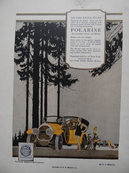 Polarine Standard Motor Oil Magazine Advertisement by Clarence J McCarthy
