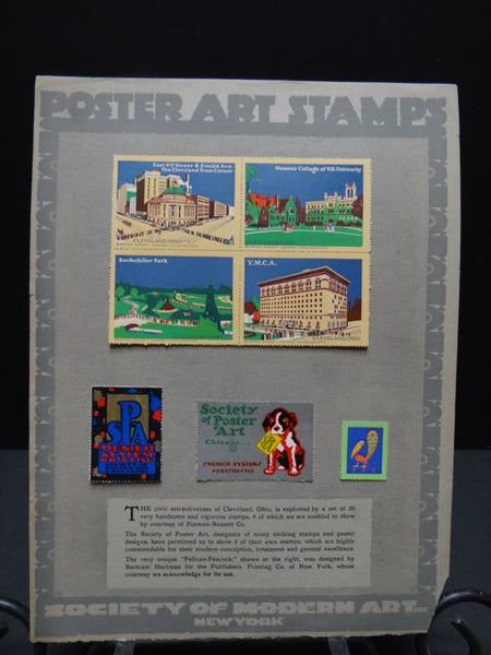 Poster Art Stamps Lithographic Plates by the Society of Modern Art