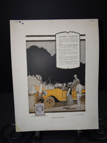 """Summer Delights"" Polarine Lithographic Plate by Clarence J McCarthy"