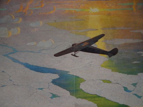 "N.C. Wyeth: ""Through Pathless Skies To The North Pole"" 1928"
