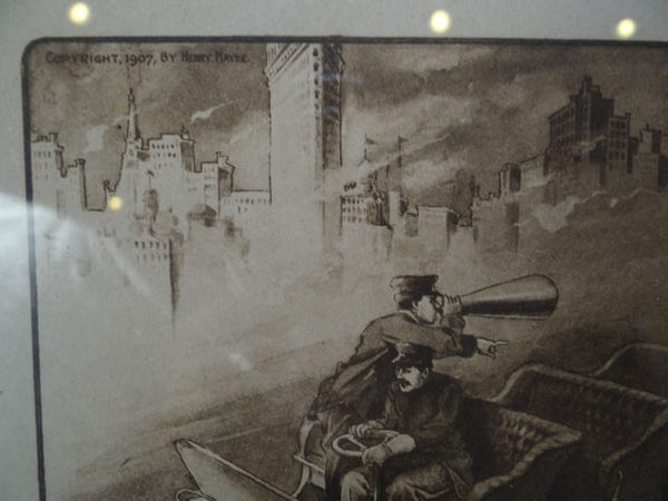 "Henry ""Hy"" Mayer ""Seeing The Town"" Print 1907"