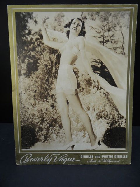 """Dick"" Whittington Beverly Vogue Girdle Counter Card 1938"