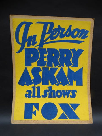 Perry Askam Fox Theater Poster