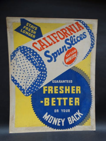 California Spun Slices Bread Poster