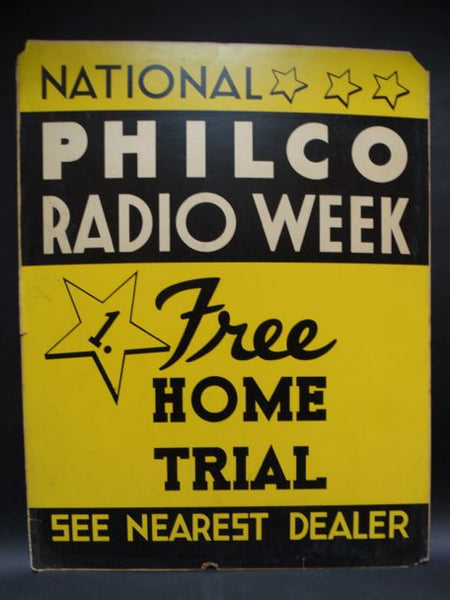 Philco Radio Week Poster