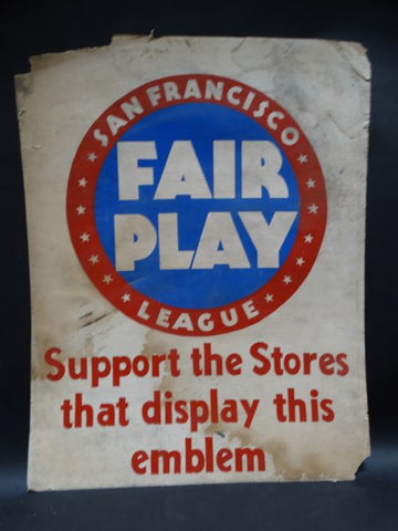 San Francisco Fair Play League Poster