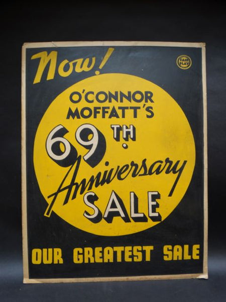 O'Connor Moffat 69th Anniversary Sale Poster Silk Screen