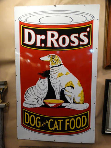Dr. Ross Dog and Cat Food Porcelain Enamel Sign