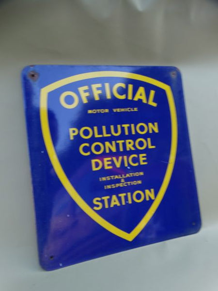 Official Pollution Control Sign