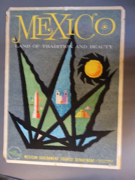 Vintage Mexican Travel Poster: Mexico, Land of Tradition & Beauty