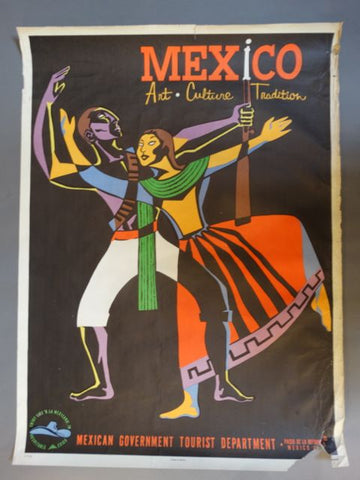 Vintage Mexican Travel Poster: Art Culture Tradition