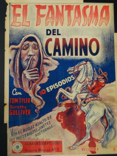 El Fantasma Del Camino Mexican Movie Poster 1930s