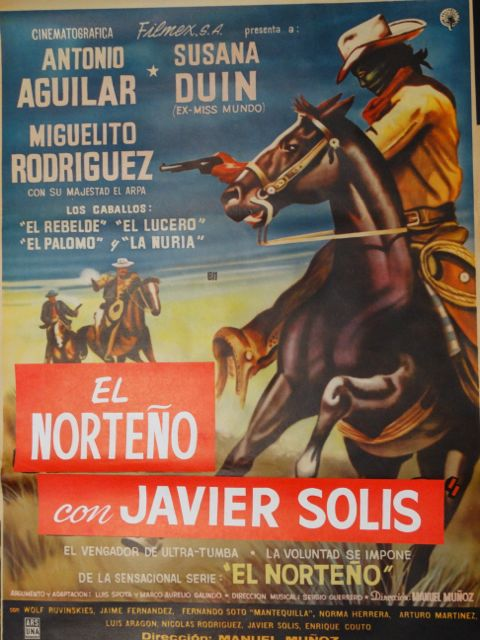 El Norteño con Javier Solis -- Mexican Movie Poster