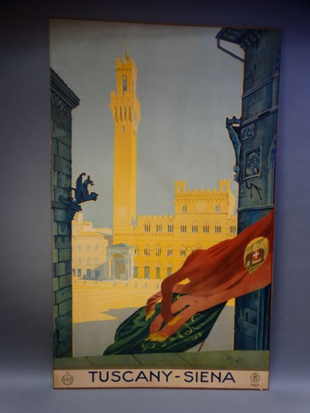 Vintage Travel Poster Tuscany Siena 1920s-30s
