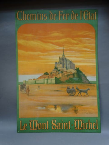 Mont St Michel Travel Poster