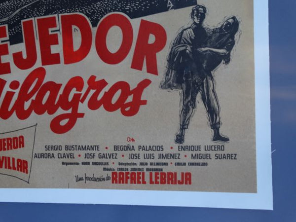 El Tejedor de Milagros Mexican Movie Poster 1962