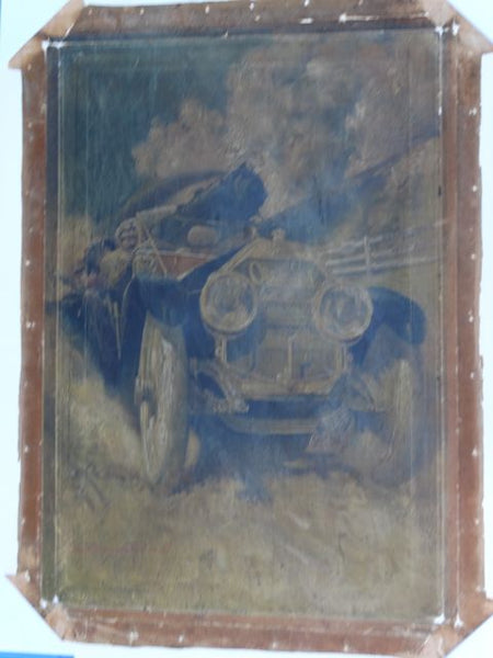 Oldsmobile Limited Showroom Display Poster Very Rare c 1910