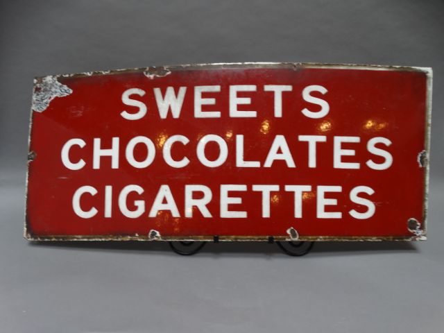 Sweets Chocolates Cigarettes Sign
