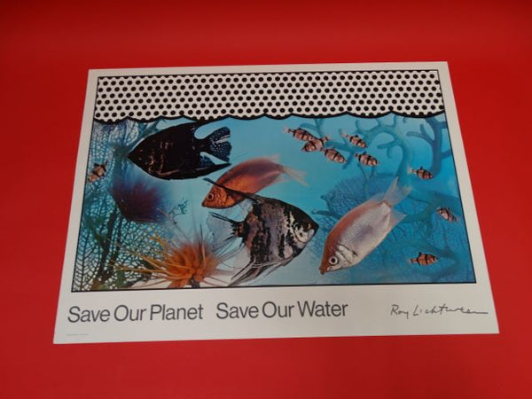 Roy Lichtenstein Save Our Planet Save The Water Olivetti Project 1971