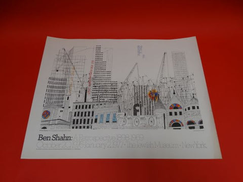 Ben Shahn - ALL THAT IS BEAUTIFUL - Jewish Museum Poster 1969