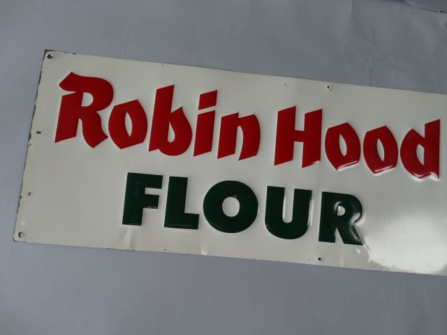 Robin Hood Flour Tin Litho Sign
