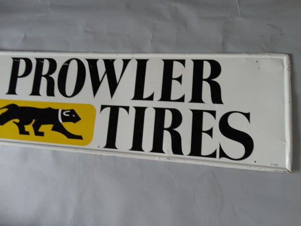 Prowler Tires Tin Litho Sign