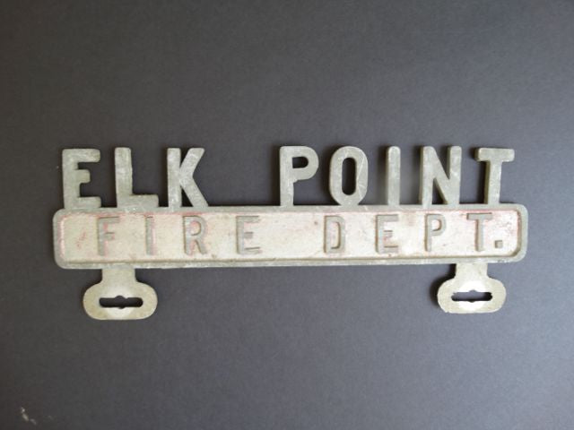 Elk Point Fire Department Sign