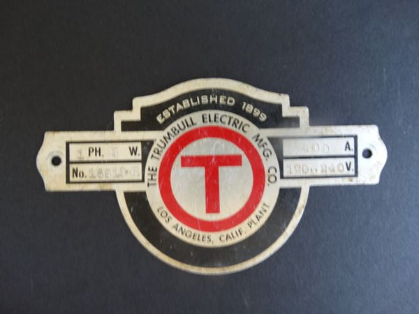 """The Trumbull Electric Mfg. Co"" Metal Sign"