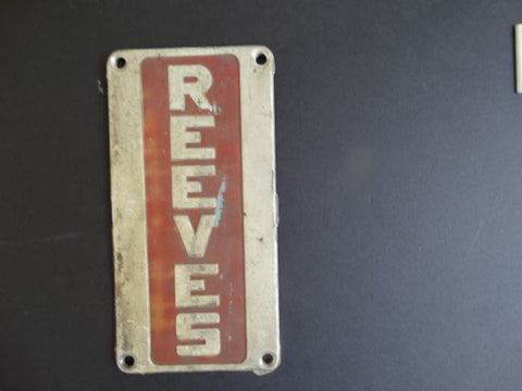 """Reeves"" Metal Sign"
