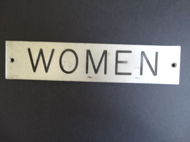 """Women"" Powder Room Sign"