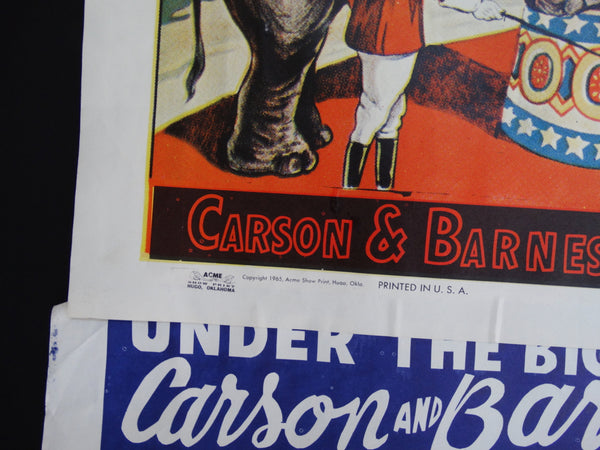 Carson and Barnes Circus Poster