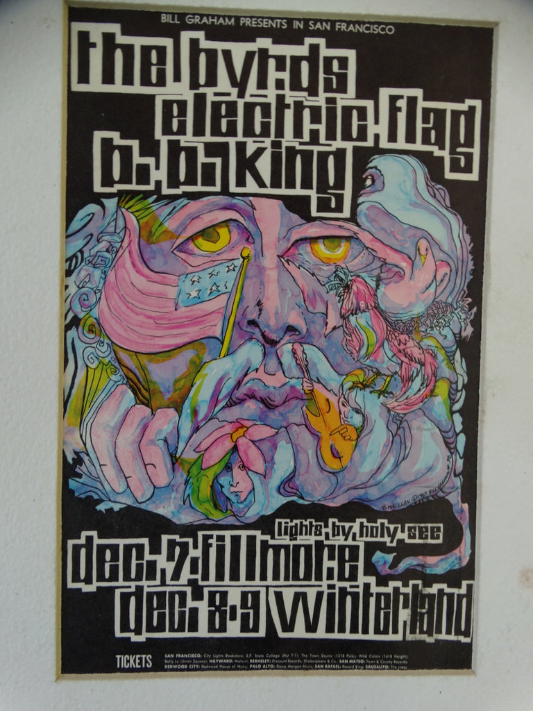 Classic Rock Postcard: Byrds, Electric Flag, B.B. King