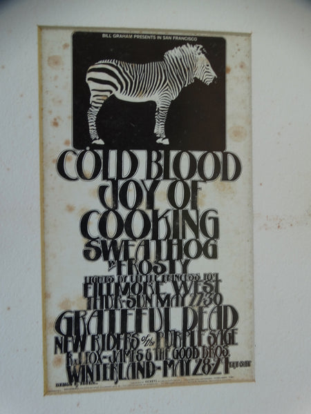 Classic Rock Postcard: Cold Blood, Joy of Cooking, Sweathog, Grateful Dead