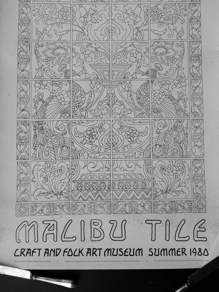 Malibu Tile Craft and Folk Art Museum Poster
