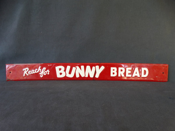 "Vintage Tin Litho Sign ""Bunny Bread"""